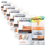 6x Loreal L'oreal Men Expert Hydra Energetic Anti Fatigue Moisturiser 50ml