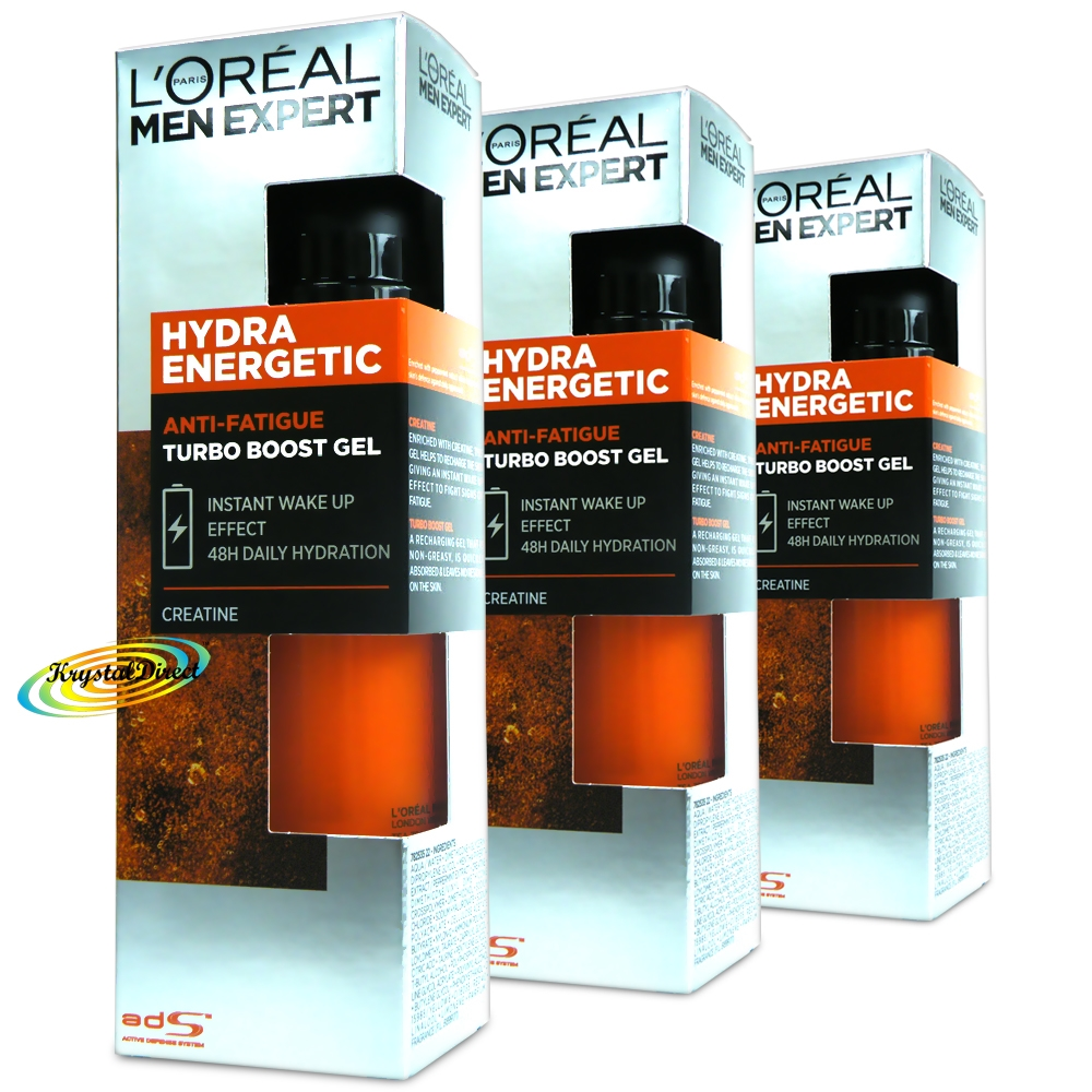 3x Loreal Men Expert Hydra Energetic Taurine Boost Turbo Booster ...