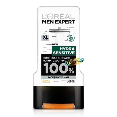 L'Oreal Men Expert Hydra Sensitive Birch Sap Shower Gel 300ml Sensitive Skin