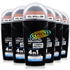 6x L'Oreal Men Expert Carbon Protect 4 in 1 Anti Perspirant 48H Deodorant Roll On 50ml
