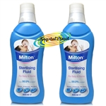 2x Milton Sterilising Fluid For Baby & Home 500ml