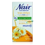 Nair Facial Wax Strips 12s