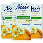 3x Nair Facial Wax Strips 16s