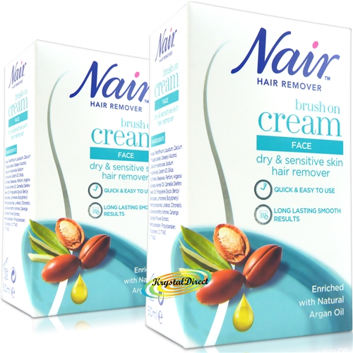 2x Nair Facial Brush on 50ml