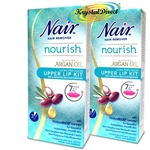 Nair Nourish Argan Oil Upper Lip Hair Remover Kit 20ml