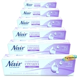 6x Nair Moisturising Hair Removal Cream 100g With Baby Oil