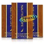 3x Nautica Life Eau De Toilette Spray EDT Gift For Him 50ml