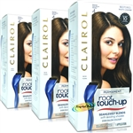 3x Clairol Root Touch Up Permanent Hair Colour Dye #4 DARK BROWN