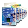 6x Noise-X Swimmer / Swimming Reusable Soft Silicone Ear Plugs for Child 1 Pair