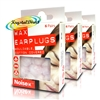 3x Noise-X Wax Cotton Earplugs