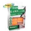 Noise-X Foam Barrel Shape Multipurpose Noise Ear Plugs Flight Earplugs