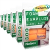6x Noise-X Foam Barrel Shape Multipurpose Noise Ear Plugs Flight Earplugs