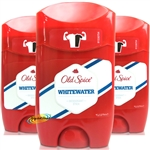 3x Old Spice WHITEWATER Deodorant Stick 50ml
