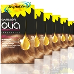 6x Garnier Olia 7.0 Dark Blonde Permanent Hair Colour No Ammonia Dye
