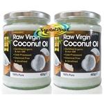 2x Optima Raw Virgin Coconut Oil Organic 500ml