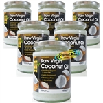6x Optima Raw Virgin Coconut Oil Organic 500ml