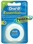 Oral B Essential Floss Waxed Dental Floss 50m (MINT)
