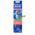 Braun Oral B Sensitive Clean Toothbrush Replacement Heads 4 Pack