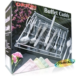 Orion Buffet Caddy Chrome Plated Acrylic Board