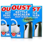 3x Oust Kettle Descaler Drop in Bag Sachet