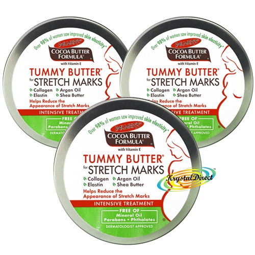 3x Palmers Cocoa Butter Formula Tummy Butter For Stretch Marks 125g Vitamin E