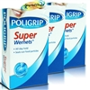3x Poligrip Super Wernets Denture Fixative Powder Seals Out Food Particles 50g