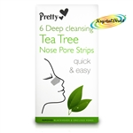 Pretty Deep Cleansing Tea Tree Nose Pore Strip Blackhead Removal Unclog Pores