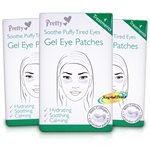 3x Pretty Gel Eye Patches Soothe Puffy Tired Eyes 4 Treatments