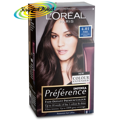 Loreal Preference Paris 4 01 Natural Dark Brown Permanent Hair