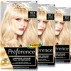 3x Loreal Preference 10.1 Helsinki VERY LIGHT ASH BLONDE Permanent Hair Colour Dye