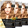 3x Loreal Infinia Preference Florida 7.3 HONEY BLONDE Permanent Hair Colour Dye