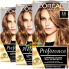 3x Loreal Preference RIMINI #7 DARK BLONDE Permanent Hair Colour Dye