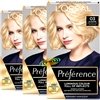 3x Loreal Preference Les Blondissimes 03 LIGHTEST ASH BLONDE Hair Colour Dye