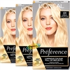 3x Loreal Preference Les Blondissimes 01 LIGHTEST NATURAL BLONDE Hair Colour Dye
