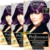 3x Loreal Preference Feria P38 Violet Vendetta DEEP PURPLE Permanent Hair Colour