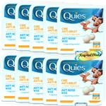 Quies Protection Auditive Wax Earplugs - 8 Pairs