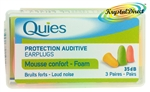 Quies mousse confort FOAM  Ear Plugs - 3 Pairs