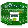 6x Ricola Fresh Montain Mint Swiss Herbal Drops Lozenges Sweets Sugar Free 45g