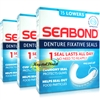 3x Seabond Gum Denture Fixative Maximum Strength Original Seals 15 Lowers