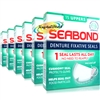 6x Seabond Gum Denture Fixative Maximum Strength Original Seals 15 Uppers