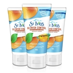 3x St Ives Blemish Fighting Apricot Face Scrub 150ml Naturally Clear - Oil Free
