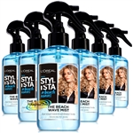 6x Loreal Stylista The Beach Wave Hair Styling Mist Salt Spray 200ml