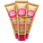 3x L'Oreal Sublime Bronze Fresh Feel Non Tinted Self Tanning Body & Face Gel 150ml