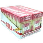 14x Sula Strawbery and Cream Natural Sugar Free Boiled Sweets 42g