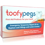 Toofypegs Tooth Repair Kit for Lost Fillings & Loose Crowns