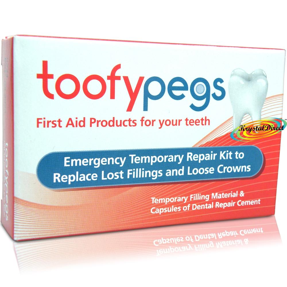 Toofypegs Tooth Repair Kit For Lost Fillings Loose Crowns