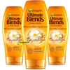 3x Garnier Ultimate Blends Marvellous Transformer Conditioner Dull & Dry Hair 360ml