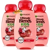 3x Garnier Ultimate Blends Kids Cherry & Sweet Almond 2 In 1 Shampoo 250ml