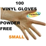 Vinyl Powder Free Gloves - Small 100 each