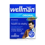 Vitabiotics Wellman Original Health & Vitality Multi Vitamin 30 Tablets